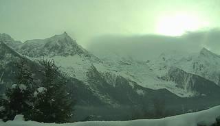 webcam - vue du Mont-Blanc depuis la route des Gaillands