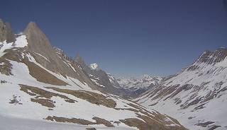 webcam - vue du Val Vény depuis le col de la Seigne